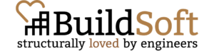 buildsoft logo - structurally loved_brown 908x218